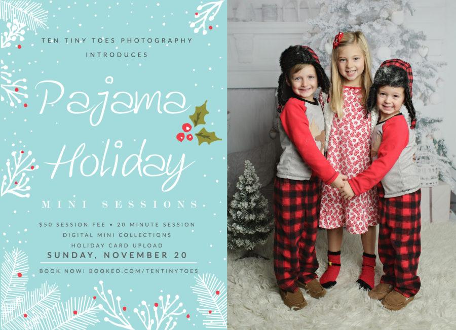 Holiday Pajama Mini Sessions Ten Tiny Toes Photography