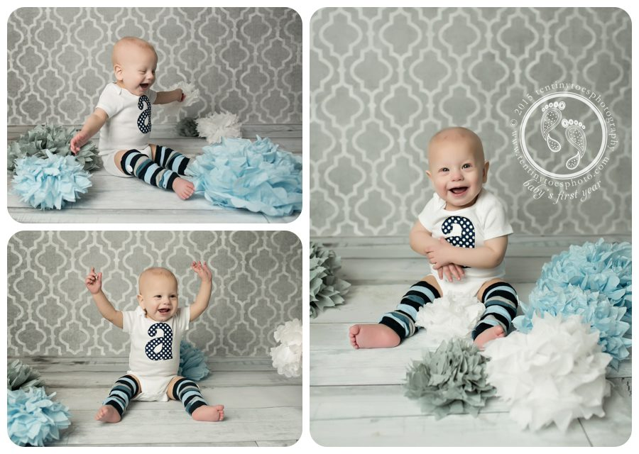 1 year photos in studio - Ten Tiny Toes Photography